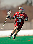 23 March 2008: Bellarmine University Knights' John Kirk, a Senior from Massapequa Park, NY, in action against the University of Vermont Catamounts at Moulton Winder Field, in Burlington, Vermont. The Catamounts defeated the visiting Knights 9-7 at the Vermont home opener...Mandatory Photo Credit: Ed Wolfstein Photo