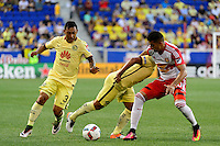 Harrison, NJ - Wednesday July 06, 2016: Gil Buron, Osvaldo Martinez, Gonzalo Veron during a friendly match between the New York Red Bulls and Club America at Red Bull Arena.