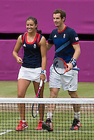 Andy Murray and Laura Robson - Team GB..Tennis - OLympic Games -Olympic Tennis -  London 2012 -  Wimbledon - AELTC - The All England Club - London - Sunday 5th August  2012. .© AMN Images, 30, Cleveland Street, London, W1T 4JD.Tel - +44 20 7907 6387.mfrey@advantagemedianet.com.www.amnimages.photoshelter.com.www.advantagemedianet.com.www.tennishead.net