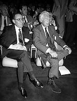 Roma 1984. Gianni Agnelli, Fiat SpA con Carlo Azeglio Ciampi Governatore della Banca D'Italia.. Gianni Agnelli, Fiat SpA , Carlo Azeglio Ciampi, Governor of the Bank Italy