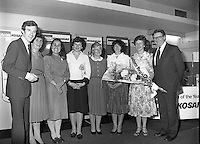 "Calor Kosangas Housewife of the Year - Dublin Regional Final.26/10/1982  26.10.1982..""Calor Kosangas Housewife Of The Year 1982"". Dublin Regional Final..The final was held in the Gresham Hotel,O'Connell St,Dublin. The winner was Mrs.,Deirdre Ryan,Derrypatrick,Drumree,Co Meath..(L-R) Morgan O'Sullivan, Mrs Daphne Felton,Cabinteely,Dublin. Mrs Petra Carter, Tara, Co Meath. Mrs Josephine McGrath,Clontarf,Dublin.Mrs Bridget Jones,Curragh,Co Kildare. Mrs Laura Jenkins,Killiney, Dublin. Mrs Deirdre Ryan,Drumree,Co Meath.Mr Denis Shelly Chairman and M.D.,Calor Kosangas."