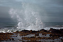 OR01210-00...OREGON - Pounding surf at the Cape Perpetua Scenic Area on the Pacific Coast in the Siuslaw National Forest.