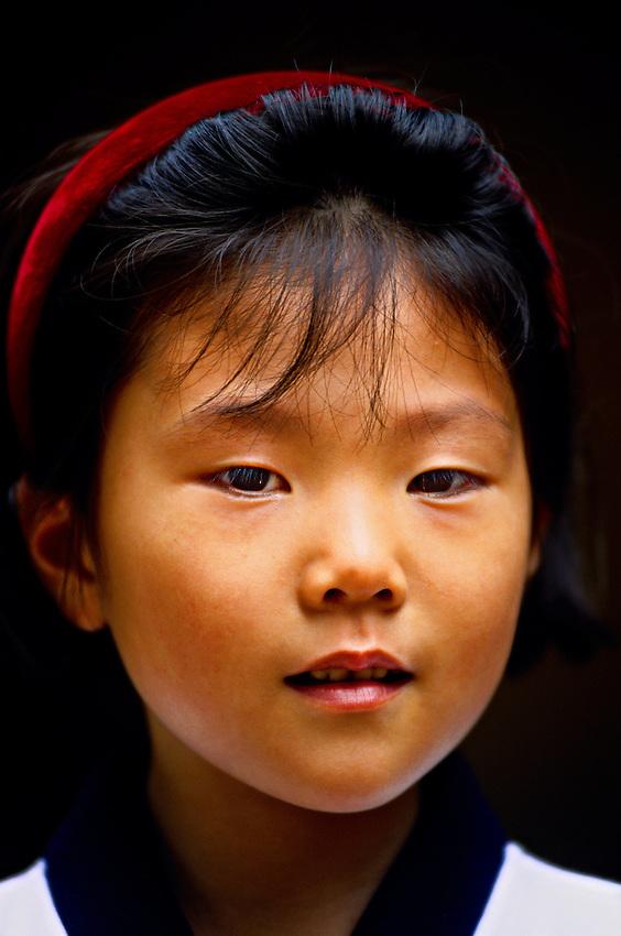 Young Korean girl, Korean Folk Village, near Suwon, South Korea
