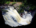 Snake Pit Falls, Amnicon Falls State Park, Wisconsin, June, 1987