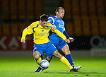 St Johnstone v Queen of the South...21.09.10  CIS Cup 3rd Round.Rocco Quinn and Jody Morris.Picture by Graeme Hart..Copyright Perthshire Picture Agency.Tel: 01738 623350  Mobile: 07990 594431