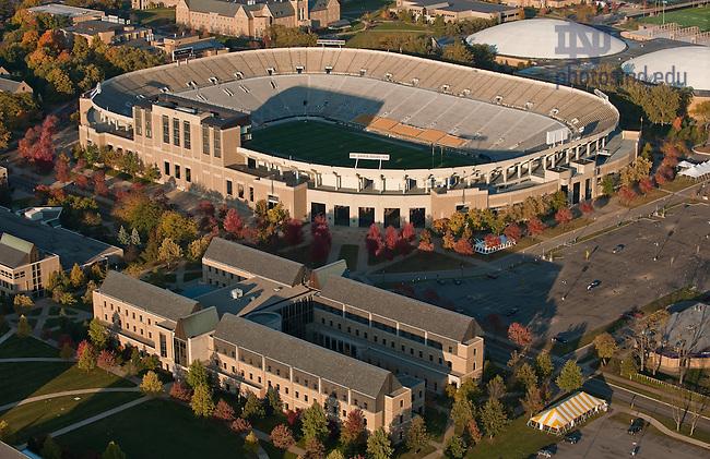 Mendoza College of Business and Notre Dame Stadium..Photo by Matt Cashore/University of Notre Dame