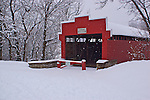 Berks County Heritage Center, Pennsylvania, winter snow, Wertz's Red Bridge, Tulpehocken Creek