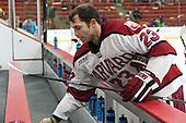David Valek (Harvard - 23) - The visiting Brown University Bears defeated the Harvard University Crimson 2-0 on Saturday, February 22, 2014 at the Bright-Landry Hockey Center in Cambridge, Massachusetts.