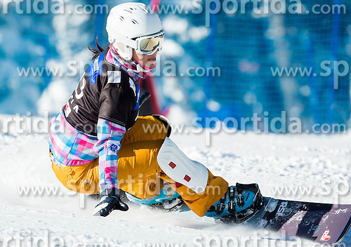 Ekaterina Ilyukhina of Russia competes during Qualification Run of Ladies' Parallel Giant Slalom at FIS Snowboard World Cup Rogla 2015, on January 31, 2015 in Course Jasa, Rogla, Slovenia. Photo by Vid Ponikvar / Sportida