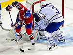 10 April 2010: Montreal Canadiens' defenseman Andrei Markov gets a first period goal against the Toronto Maple Leafs at the Bell Centre in Montreal, Quebec, Canada. The Maple Leafs defeated the Canadiens 4-3 in sudden death overtime. Mandatory Credit: Ed Wolfstein Photo