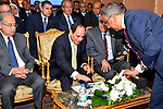 Egyptian President Abdel Fattah al-Sisi visits central agency for public mobilization and statistics, in Cairo, Egypt on April 19, 2017. Photo by Egyptian President Office