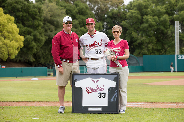 Stanford, CA -- May 17, 2015: Stanford Cardinal vs the Oregon State Beavers at Klein Field, Sunken Diamond on Senior Day.  The Beavers defeated the Cardinal 12-3.