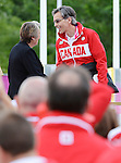 LONDON, ENGLAND – 08/26/2012:  Gaetan Tardif, Canada's Flag Raising Ceremony at the London 2012 Paralympic Games. (Photo by Matthew Murnaghan/Canadian Paralympic Committee)