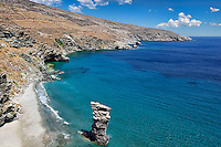 The old woman's jump beach in Andros island, Greece