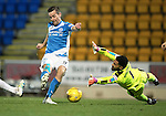 St Johnstone v Rangers&hellip;28.12.16     McDiarmid Park    SPFL<br />Steven MacLean rounds Wes Foderingham to score for saints<br />Picture by Graeme Hart.<br />Copyright Perthshire Picture Agency<br />Tel: 01738 623350  Mobile: 07990 594431