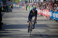 Alejandro Valverde (ESP/Movistar) finishing his prologue<br /> <br /> stage 1: Apeldoorn prologue 9.8km<br /> 99th Giro d'Italia 2016