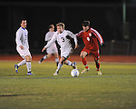 Oxford High's Noland Parham (3) vs. Neshoba Central in MHSAA playoff soccer action in Oxford, Miss. on Tuesday, January 22, 2013. Oxford won 3-1.