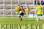 Jordan Kiely Dr Crokes goes past John Sheehan Gneeveguilla during East Kerry semi final in Fitzgerald Stadium on Saturday