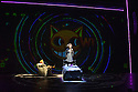 """""""wonder.land"""", a new musical inspired by Lewis Carroll's """"Alice in Wonderland"""", created by Damon Albarn, Moira Buffini and Rufus Norris, opens at the National Theatre, in the Olivier. Picture shows: Hal Fowler (Cheshire Cat), Lois Chimimba (Aly)"""