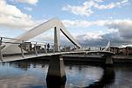 Boomielaw Tradeston Bridge over the River Clyde, Glasgow, Scotland