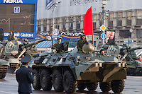 Moscow, Russia, 09/05/2010..Russian military vehicles and weaponry on their way through central Moscow to Red Square for the Victory Day parade, the largest ever.