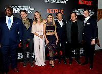 NEW YORK, NY - NOVEMBER 03: Leonard Earl Howze, Maurice Compte,Lauren Shaw, Zulay Henao, Andy Garcia, Kevin James and director Jeff Wadlow attend the 'True Memoirs Of An International Assassin' New York premiere at AMC Lincoln Square Theater on November 3, 2016 in New York City. Photo by John Palmer/ MediaPunch