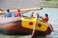 ZEILEN: LEMMER: Lemster baai, 30-07-2014, SKS skûtsjesilen, winnaar schipper Douwe Azn. Visser met skûtsje Doarp Grou, ©Martin de Jong