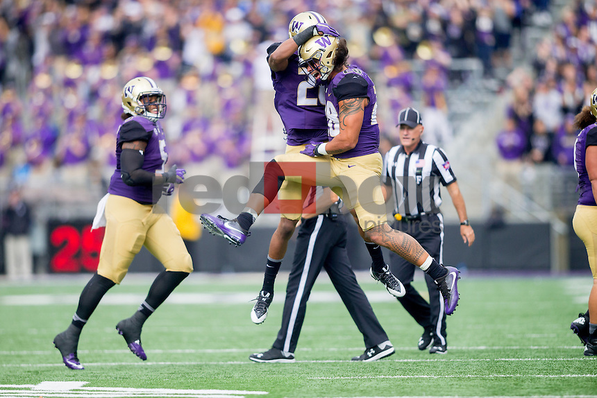 The University of Washington football team plays Rutgers at Husky Stadium on September 3, 2016. (Photography by Scott Eklund/Red Box Pictures)
