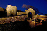 English Heritage Carisbrooke Castle. Night shot with stars. Light Painting Isle of Wight