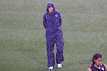 27 April 2008: United States head coach Pia Sundhage (SWE). The United States Women's National Team defeated the Australia Women's National Team 3-2 at WakeMed Stadium in Cary, NC in a women's international friendly soccer match following a brief delay for lightning.