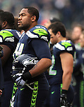 Seattle Seahawks  defensive tackle Kevin Williams (94) before their game against the New York Giants at CenturyLink Field in Seattle, Washington on November 9, 2014. The Seahawks  beat the Giants 38-17.     ©2014. Jim Bryant Photo. All rights Reserved.