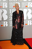 Emeli Sande at The BRIT Awards 2017 at The O2, Peninsula Square, London on February 22nd 2017<br /> CAP/ROS<br /> &copy; Steve Ross/Capital Pictures /MediaPunch ***NORTH AND SOUTH AMERICAS ONLY***