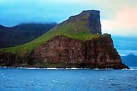 Faroe Islands. Coast north of Klaksvik.