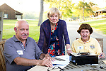 Watertown, CT- 18 May 2017-051817CM18- SOCIAL MOMENTS-- From left, board members, Michael Mucciacciaro, Barbara Davitt and Susan Beatty are photographed during the annual Greater Waterbury Campership Fund picnic at Camp Mataucha in Watertown on Thursday.   Christopher Massa Republican-American