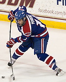 Joseph Pendenza (UML - 14) - The University of Massachusetts Lowell River Hawks defeated the Boston College Eagles 4-2 (EN) on Tuesday, February 26, 2013, at Kelley Rink in Conte Forum in Chestnut Hill, Massachusetts.