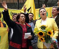 Inscripción Clara López y Aída Abella para la Presidencia de Colombia 14-03-2014