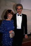 Actress Ann-Margaret and her husband Roger Smith attend a January 1985 event at teh White House for the Inauguration of President Ronald Reagan.