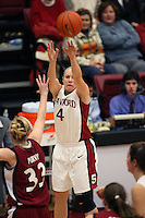 29 November 2006: Stanford Cardinal Clare Bodensteiner during Stanford's 88-56 win against the Santa Clara Broncos at Maples Pavilion in Stanford, CA.