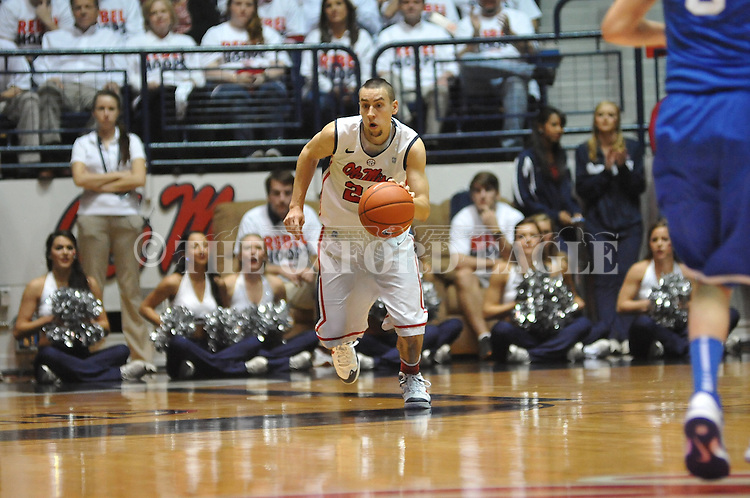 "Ole Miss' Marshall Henderson (22) vs. Kentucky at the C.M. ""Tad"" Smith Coliseum on Tuesday, January 29, 2013."