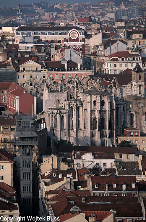 Portugal,Lisbon,general view of Caramel church from Castelo Sao Jorge