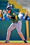 19 April 2009: University of Vermont Catamounts' shortstop Matt Duffy, a Sophomore from Milton, MA, is hit by a pitch in the first inning against the University at Albany Great Danes at Historic Centennial Field in Burlington, Vermont. The Great Danes defeated the Catamounts 9-4 in the second game of a double-header. Sadly, the Catamounts are playing their last season of baseball, as the program has been marked for elimination due to budgetary constraints on the University. Mandatory Photo Credit: Ed Wolfstein Photo