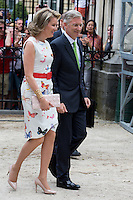 King Philippe & Queen Mathilde of Belgium at the Royal Park on Belgian National Day