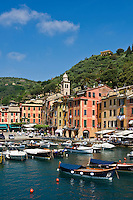 Scenic harbor and waterfront, Portofino, Liguria, Italy