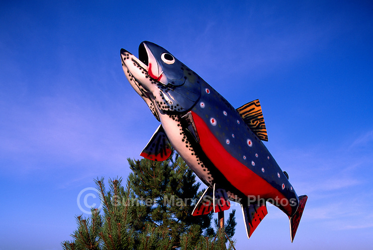 Big Trout Sculpture, Roadside Attraction, Sault Ste. Marie, ON, Ontario, Canada