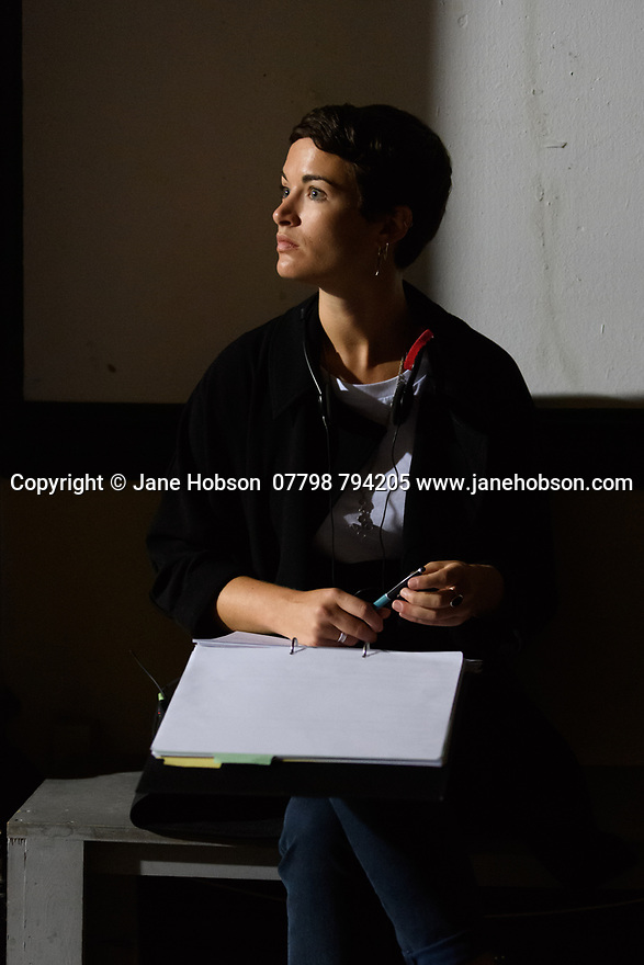 "London, UK. 29.07.2016. On the set of short film ""Little Bird"", written by Emilly Taaffe, directed by Georgia Oakley, produced by Emily Taaffe and Rebecca Cronshey, Director of Photography Nanu Segal. Staring Emily Taaffe and Imelda Staunton.  Photograph © Jane Hobson."