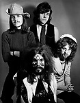The Move 1970 Rick Price Bev Bevan Roy Wood and Jeff Lynne. Jeff Lynne joined February 1970 Tick Price left February 1871.<br /> &copy; Chris Walter