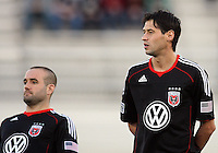 Branden Barklage(24) and Branko Boskovic(8) of D.C. United  during a play-in game for the US Open Cup tournament against the Philadelphia Union at Maryland Sportsplex, in Boyds, Maryland on April 6 2011. D.C. United won 3-2 after overtime penalty kicks.