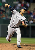 New York Yankees pitcher Cory Wade (53) pitches against the Baltimore Orioles at Oriole Park at Camden Yards in Baltimore, MD on Tuesday, April 10, 2012.  The Yankees won the game in 12 innings 5 - 4..Credit: Ron Sachs / CNP.(RESTRICTION: NO New York or New Jersey Newspapers or newspapers within a 75 mile radius of New York City)