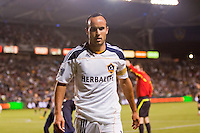 LA Galaxy midfielder Landon Donovan. The LA Galaxy defeated the Philadelphia Union 1-0 at Home Depot Center stadium in Carson, California on  April  2, 2011....