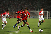 Egypt's Hesham Mohamed (3) attempts to make a goal set up against Costa Rica during the FIFA Under 20 World Cup Round of 16 match between Egypt and Costa Rica at the Cairo International Stadium on October 06, 2009 in Cairo, Egypt.